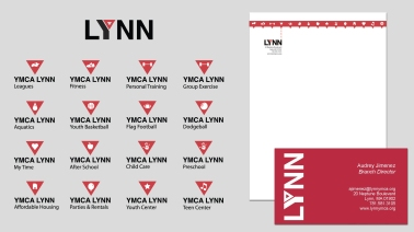 YMCA of Lynn, MA branding and internal iconography
